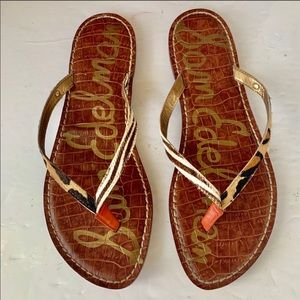 Sam Edelman flip flop calf fur sandals